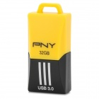 PNY F1 Mini Portable USB 3.0 Flash Drive w/ Strap - Yellow + Black (32GB)