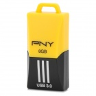 PNY F1 Mini Portable USB 3.0 Flash Drive w/ Strap - Yellow + Black (8GB)
