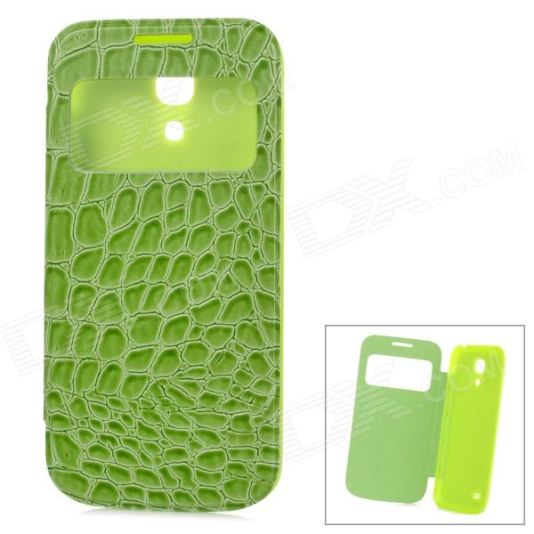 Alligator Pattern Protective PU Leather Case Cover for Samsung Galaxy S4 Mini i9190 - Green mooncase soft silicone gel side flip pouch hard shell back чехол для samsung galaxy s6 black