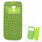 Alligator Pattern Protective PU Leather Case Cover for Samsung Galaxy S4 Mini i9190 - Green