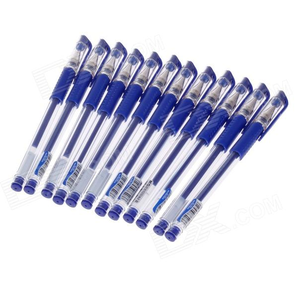 M&G VGP-301 0.5mm Blue Gel Ink Pens - Blue (12 PCS)