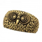 eQute BOTW4C3 Vintage Plastic Big Owl Face Bangle Bracelet - Bronze