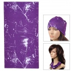 Ryder Cool Multifunction Outdoor Cycling Polyester Head Scarf - Purple