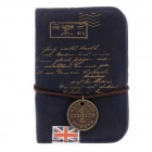 Reminiscent England PU Leather Card Bag - Deep Blue (Hold 20 Cards)
