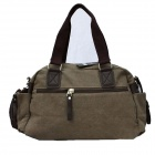 Stylish Men's Canvas Shoulder Bag - Khaki