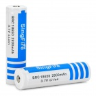 SingFire 18650 3.7V 2800mAh Battery for Flashlight - White + Blue (2 PCS)
