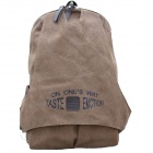 XBD1245 Fashionable Casual Canvas Backpack - Brown