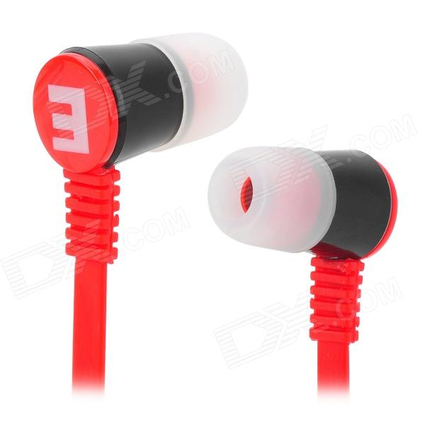Senic IS-R8 Stylish Universal 3.5mm Jack Wired In-ear Headset - Red + Black (127cm) gorsun gs a356 universal 3 5mm jack wired in ear bass headset for cellphone black