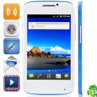"""MP991(sphs on hsdroid) Android 2.3.6 GSM Bar Phone w/ 4.0"""", Quad-Band, FM and Wi-Fi - White + Blue"""