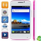 "MP991(sphs on hsdroid) Android 2.3.6 GSM Bar Phone w/ 4.0"", Quad-Band, FM and Wi-Fi - White + Purple"