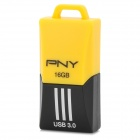 PNY F1 Mini Portable USB 3.0 Flash Drive w/ Strap - Yellow + Black (16GB)