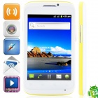 """MP991(sphs on hsdroid) Android 2.3.6 GSM Bar Phone w/ 4.0"""", Quad-Band, FM and Wi-Fi - White + Yellow"""