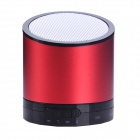 Mikasso N6 Stylish Bluetooth V3.0 Speaker w/ Microphone / TF for Iphone / Samsung - Red + Black