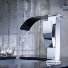 YDL-F-0502-Chrom-Wasserfall Bad Wasserhahn Messing - Silber