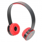 Sonun SN-T5 Stylish Headphones Headset w/ Microphone / Volume Control - Black + Red