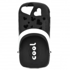 Scented Cool Slipper Style Protective Silicone Back Case for Iphone 5 - Black