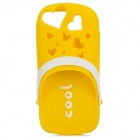 Scented Cool Slipper Style Protective Silicone Back Case for Iphone 5 - Yellow