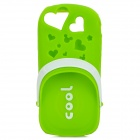Scented Cool Slipper Style Protective Silicone Back Case for iPhone 5 - Green