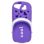 Scented Cool Slipper Style Protective Silicone Back Case for Iphone 5 - Purple