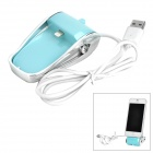 Rechargeable USB Charging Dock Station for iPhone 5 / iPod Touch 5 - Green + Silver
