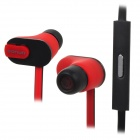 Sonun SN-ip2 Fashion Stereo In-ear Style Earphones w/ Microphone - Black + Red