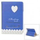 "ENKAY ENK-3339 ""I Miss You"" Protective PU Leather Smart Case for Ipad MINI - Blue"
