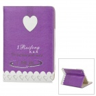 "Enkay ENK-3339 Protective PU-Leder Smart Cover ""I Fräulein You"" für Ipad MINI - Purple + Weiß"