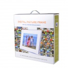 "XC-14.1 14"" LED Digital Photo Picture Frame Album w/ Speaker - Black (16GB)"