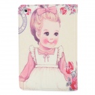 ENKAY ENK-3340 Parisian Girl Pattern Protective PU Leather Smart Case for Ipad MINI