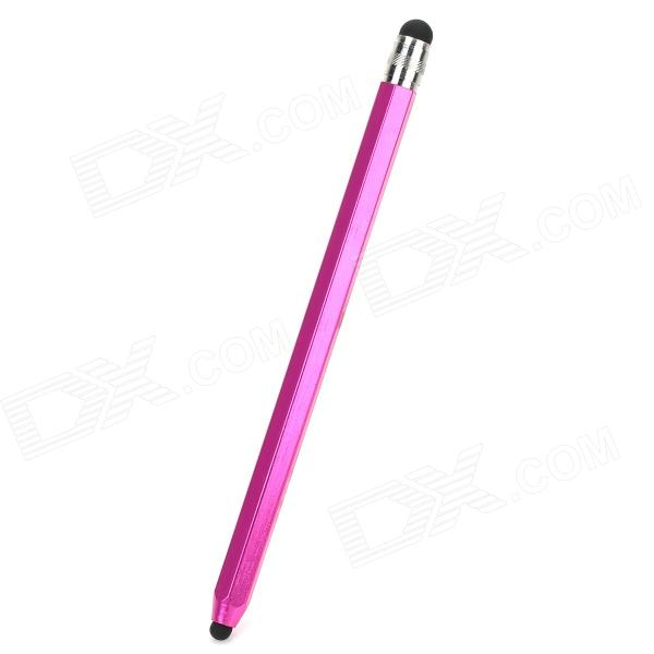 Pencil Shaped Dual-Head Capacitive Screen Stylus Pen for Iphone / Ipad / Ipod - Deep Pink