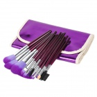 Professional 16-in-1 Cosmetic Makeup Brushes Set - Purple