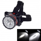 KangMing KM-180 Rechargeable 9-LED 100lm 2-Mode White Light Headlamp for Hunting + More - Black