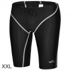 Sbart Men's Stylish Flexible Quick-dry Fifth Skinny Pants for Swimming - Black + White (XXL)