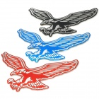 Flying Eagle Shaped Plastic Car Decoration Sticker - Red + Black + Blue (3 PCS)