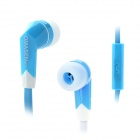 OMASEN OM-M6 Stylish In-Ear Earphone w/ Microphone for Iphone / Ipad / Samsung / HTC - Blue + White