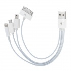 5-in-1 USB to for iPhone 5 / 4 / 4S / Samsung / HTC Charging Cable w/ AC Charger - White (US Plug)