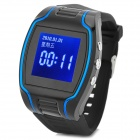 "1.5"" OLED GSM / GPRS GPS Tracking Tracing Wrist Watch - Black + Blue"