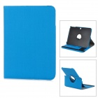 360 Degree Rotation Protective PU Leather Case w/ Card Slot for Samsung Galaxy Tab3 P5200 - Blue