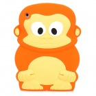Cute Monkey Style Protective SIlicone Back Case for Ipad MINI - Orange