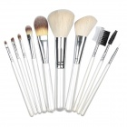 Professional 10-in-1 Cosmetic Makeup Brushes Set - White