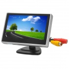 "4.0"" LCD 16:9 PAL / NTSC Car Rearview Monitor w/ AV-In + Holders - Black"
