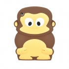 Cute Monkey Style Protective SIlicone Back Case for Ipad MINI - Brown
