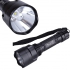 SingFire SF-C8 CREE XM-L T6 800lm 5-Mode Camping Flashlight Torch w/ Clip - Black (1 x 18650)