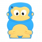 Cute Monkey Style Protective SIlicone Back Case for iPad Mini - Blue