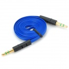 YB-35 3.5mm M-M Shielded Flat Audio Cable - Blue + Black (102cm)