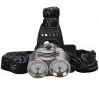 SingFire SF-621 2 x CREE XM-L T6 1600lm 3-Mode White Headlamp Headlight - Grey + Silver (2 x 18650)