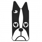 Cute Dog Style Protective Silicone Back Case for Iphone 4 / 4S - Black + White