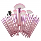 Professional Cosmetic Makeup 22-in-1 Brushes Set - Pink