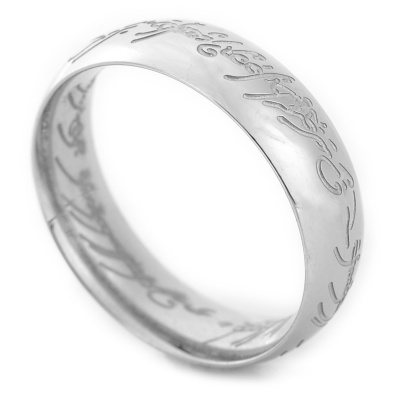 Men's Fashion Steel Ring - Silver