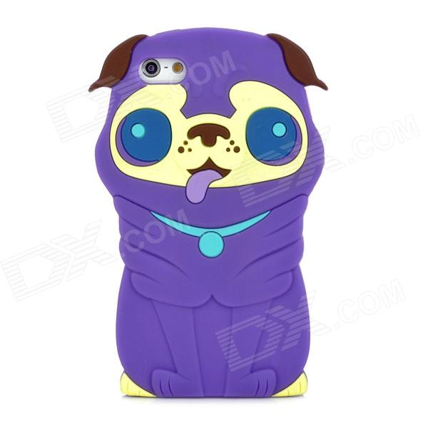 все цены на Cute 3D Dog Style Protective Silicone Back Case for Iphone 5 - Purple онлайн